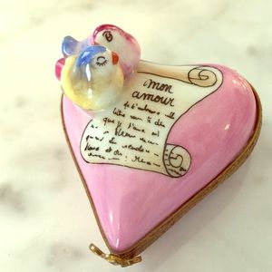 Limoges Mon Amour/ my love heart box